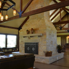 Traditional Living Room by Texas Home Plans