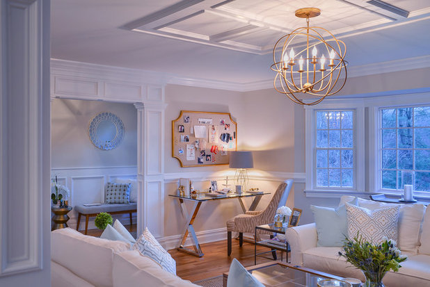 Transitional Living Room by Jeanne Campana Design