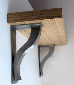 Floating shelves minimal design maximum flexibility for Maximum granite overhang without support