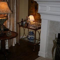 traditional living room Bar Cart