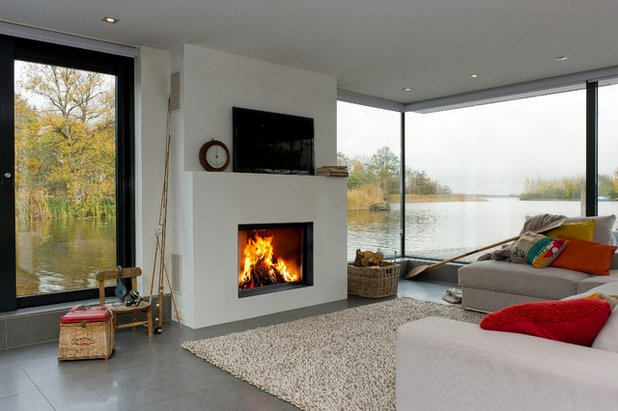 Contemporary Living Room by Orion Heating - Woodburning Stoves