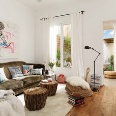 Eclectic Living Room by Vuong Interior Design