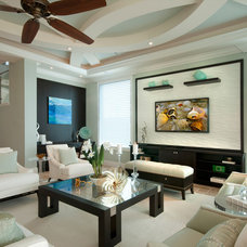 Transitional Living Room by Design Studio by Raymond