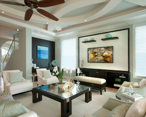 Mint Green Living Room Design Ideas, Remodels & Photos | Houzz