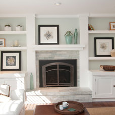 Transitional Living Room by Rhonda Knoche Design