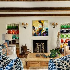 Mediterranean Living Room by Denise Morrison Interiors