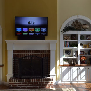 Bargersville, IN - TV Panel & Audio above Drywall Fireplace