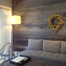 Farmhouse Living Room by barnboardstore