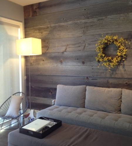 Gray barn board ideas pictures remodel and decor - Feature wall ideas for living room ...