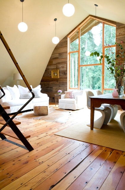Farmhouse Living Room by SHED Architecture & Design