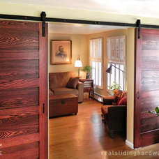 Traditional Living Room by Real Sliding Hardware