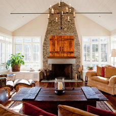Farmhouse Living Room by Insite Design Group