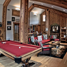 Rustic Living Room by DC Building