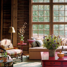 Rustic Living Room by Archer & Buchanan Architecture, Ltd.
