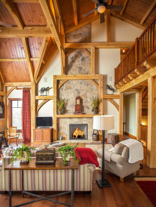 timber frame living room houzz