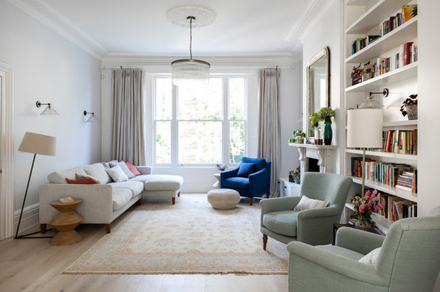 Transitional Living Room by Imperfect Interiors