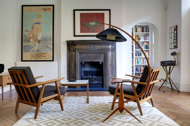 Midcentury Living Room by Redesign London Limited