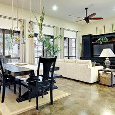 Contemporary Living Room by John Cameron Custom Homes