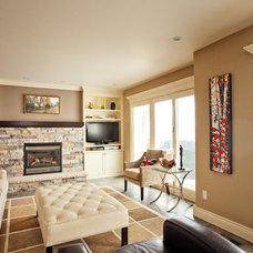 Contemporary Living Room by Caroline Harrison Designs Inc