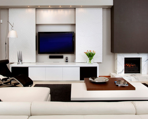 Contemporary tv units houzz for B q living room units