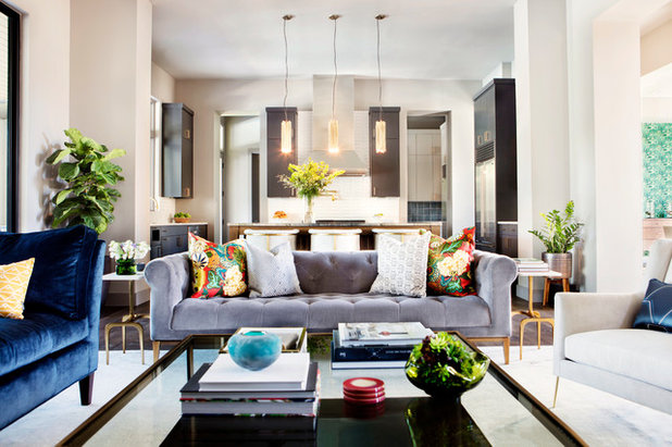 Transitional Living Room by Etch Design Group