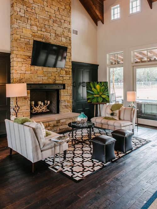 Dark Rustic Wood Floor Houzz