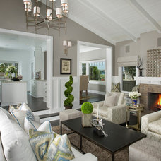 beach style living room by benjamin john stevens, architect