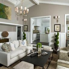 Beach Style Living Room by benjamin john stevens, architect