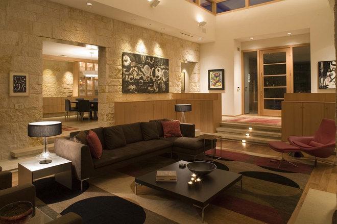 Contemporary Living Room by Dick Clark + Associates