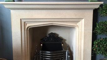Bath Stone Tudor Arch Fireplace