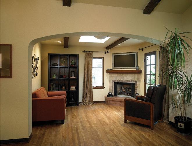 Mediterranean Living Room by HartmanBaldwin Design/Build