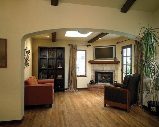 Living Room Corner Fireplace Houzz
