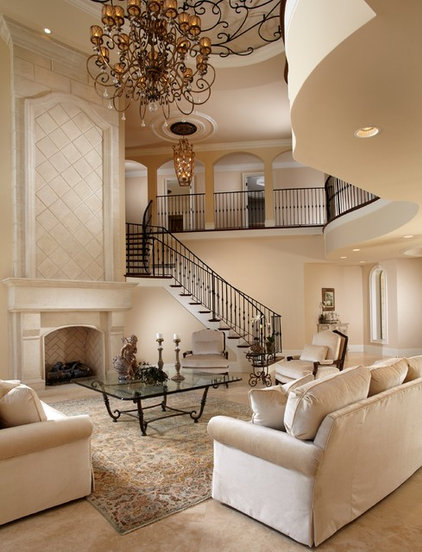 Mediterranean Living Room by The Lykos Group, Inc.