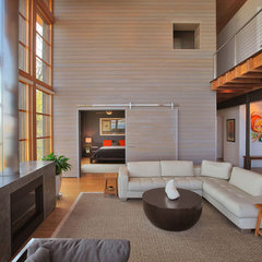 modern living room by Gardner Mohr Architects LLC