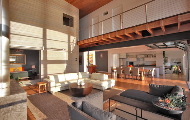 Contemporary Living Room by Gardner Architects LLC