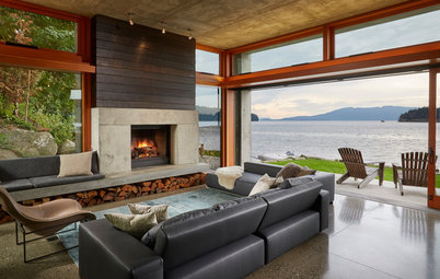 Houzz Tour:  In Washington, a Modern Beauty on the Bay
