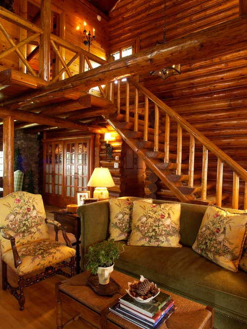Log cabin interiors houzz Log homes interiors