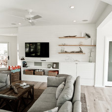 Beach Style Living Room by Anthony J. Vallee, Architect