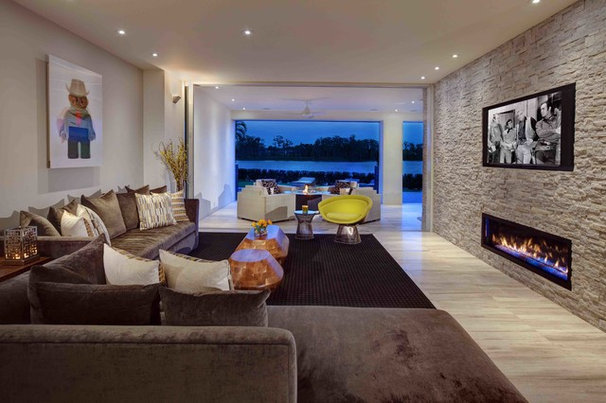 Contemporary Living Room by Phil Kean Design Group