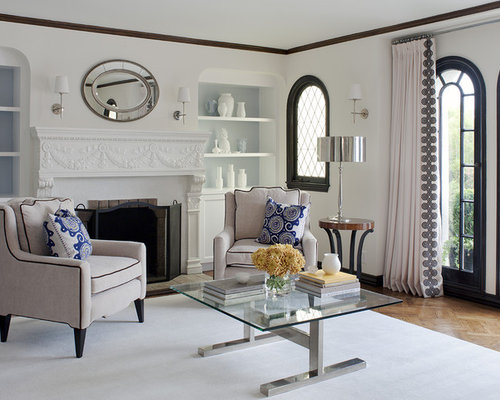 Inspiration For A Timeless Enclosed Living Room Remodel In San Francisco With Standard Fireplace