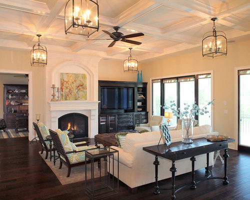 Center fireplace home design ideas pictures remodel and for Center chimney house plans