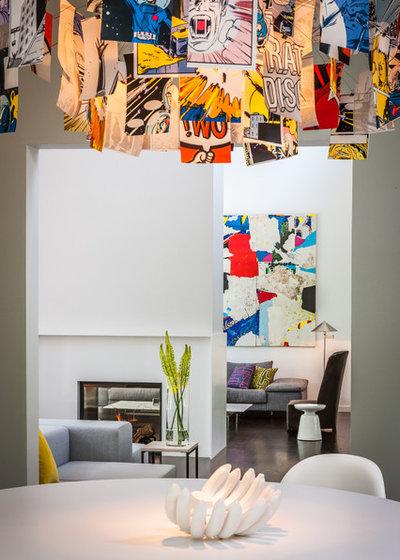 Moderno Soggiorno by KICK Interiors LLC