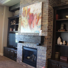 Living Room by THE MASONRY CENTER INC