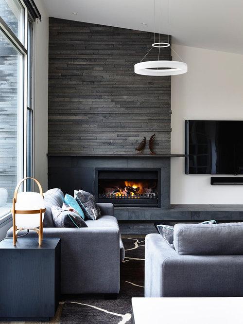 Living room ideas with corner fireplace and tv - Salon Avec Une Chemin 233 E D Angle Photos Et Id 233 Es D 233 Co De Salons