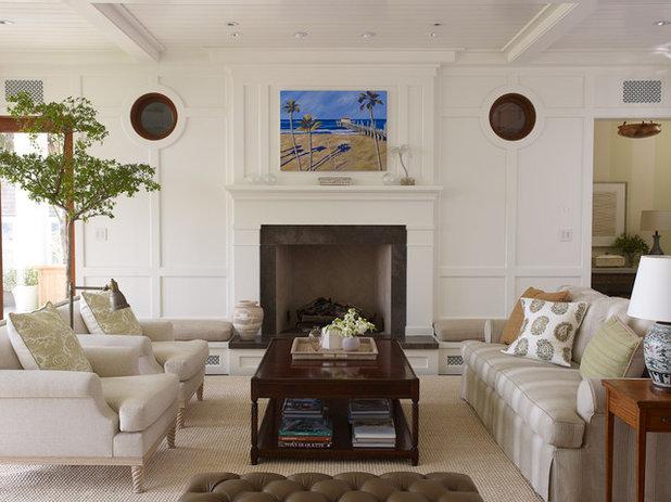 Tropical Living Room by Tim Clarke Design