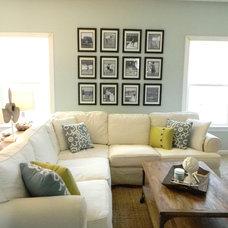 Beach Style Living Room by Seaside Interiors LLC
