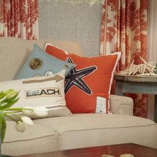 Beach Style Living Room by Nancy Van Natta Associates