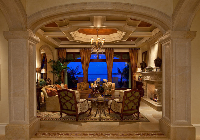 Mediterranean Living Room by Kurtz Homes Naples