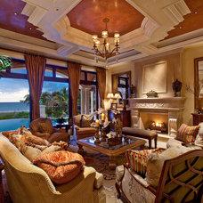 Mediterranean Living Room by Kurtz Homes Naples