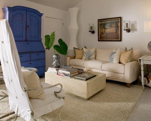 Maritime wohnzimmer mit kalkstein ideen design bilder houzz - Maritimes wohnzimmer ...